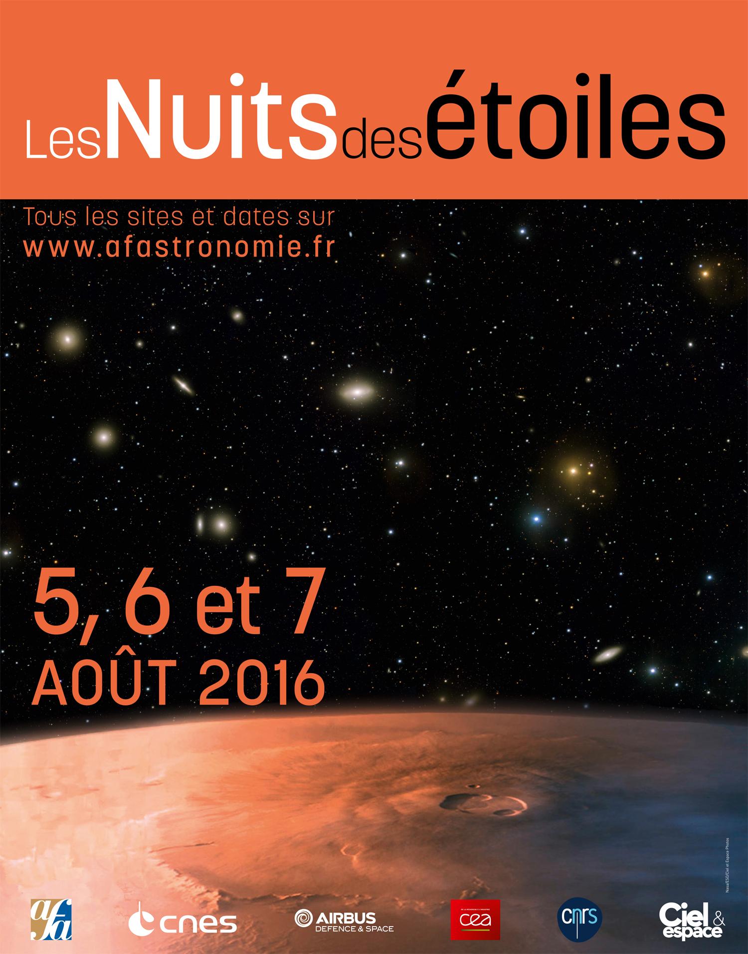 Nuit étoiles 2016 affiche