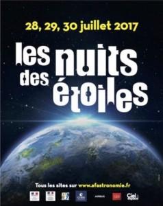 affiche nuits étoiles 2017