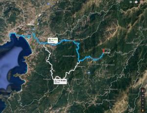 itinéraire Ajaccio Campo