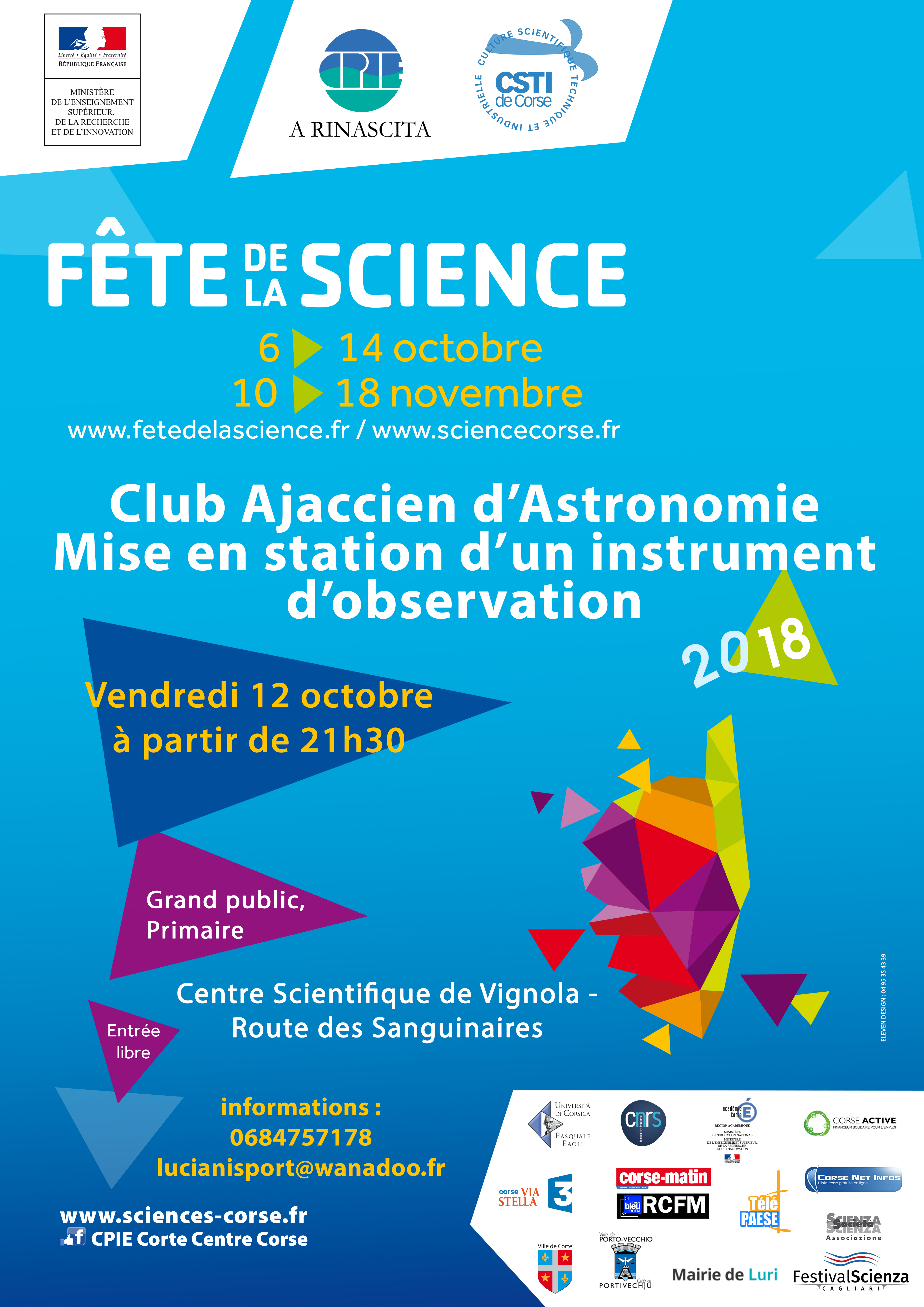 AFFICHE Fête Science 2018
