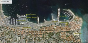 Plan d'accès embarquement