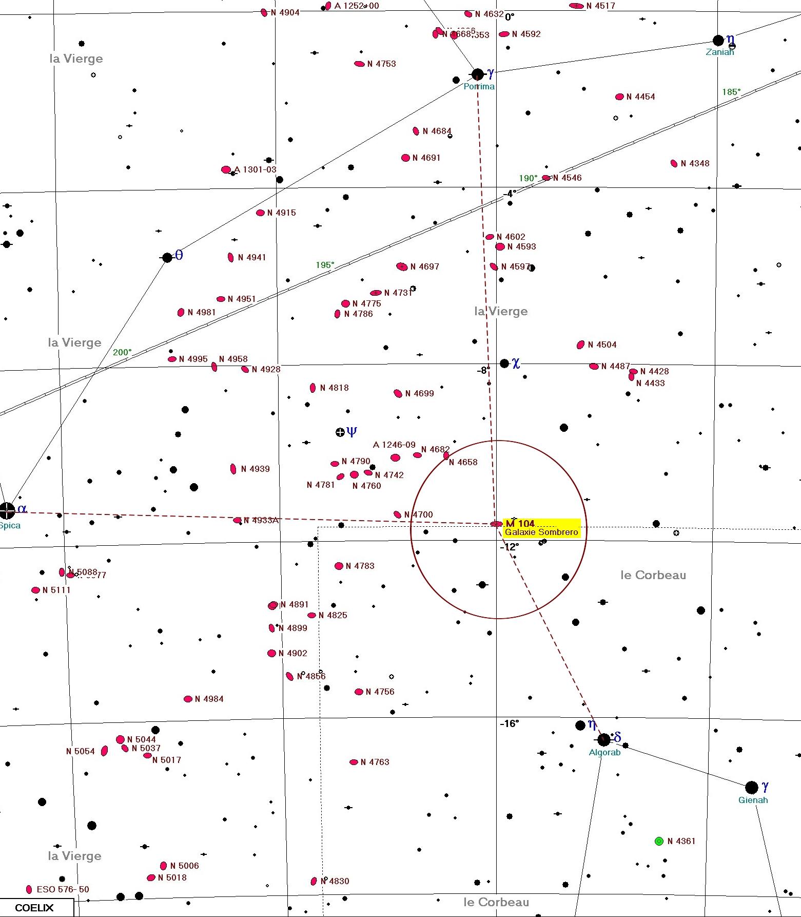M104 carte COELIX