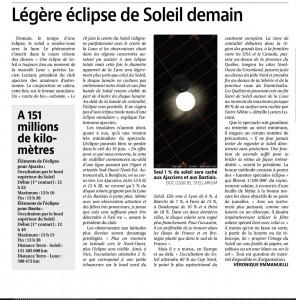 Article Corse Matin-Eclipse 10.06.21